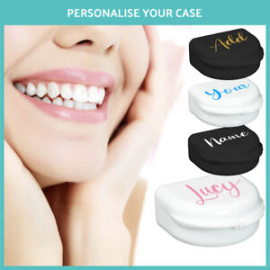 Personalised Retainer Case, Orthodontic Dentures Brace Box GIFT YOUR NAME