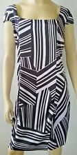 CHARLIE BROWN ladies size 16 dress Flying High fusion satin black white RRP $349