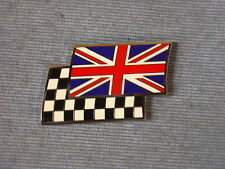 NEW TRIUMPH TR 2 - 8 UNION JACK CHEQUERED FLAG ENAMEL DECAL BADGE