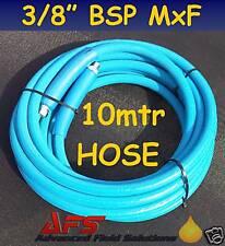 10 Mtr BLUE R2 2 Wire High Pressure Washer Hose Power Hot Jet Wash BSP M x F UK