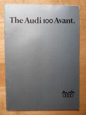 AUDI 100 Avant Range 1978 UK Market brochure
