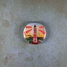 """Vintage Style Souvenir Art Fridge Magnet 1"""" Detroit Where Live is Worth Living"""