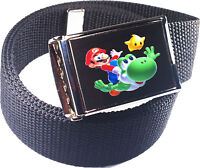 Mario Bros. Yoshi Belt Buckle Bottle Opener Adjustable Web Belt