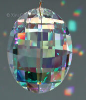 Strass Swarovski Matrix Huge 50mm 8950-0021-50 Austrian Crystal Clear AB Prism