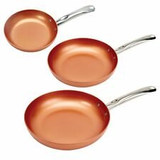 "Copper Chef Round Pan 3 Pack 8/10/12"" - Set of Three - Copper Chef Pan Set"