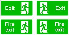 NO 3 Emergency Escape/Fire Exit Self Adhesive Vinyl Sticker All Sizes