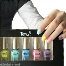 5Pcs/set 6ml Mini Yellow Pink Purple Blue Nail Art Polish Eco-friendly Varnish