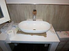 Lavandino bagno appoggio design lavabo piletta click clack tubo scarico AFFARE