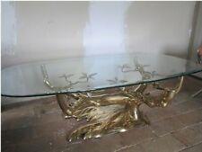 Table Basse au Bonzai sur Dune de Sable en Bronze Willy Daro ou Duval Brasseur