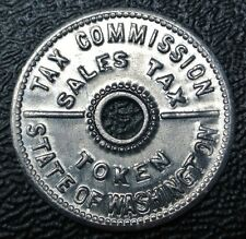 TAX COMMISSION SALES TAX TOKEN - State of Washington - Nice - Aluminium