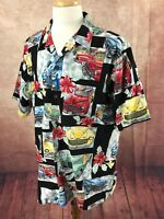 Vintage RJC USA Hawaiian Surfboards Woodies 100% Cotton Black Shirt Men's 2XL