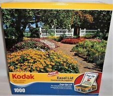 Kodak Easel Lid 1000 Piece Jigsaw Puzzle Prescott Park NH Floral 50484 Complete