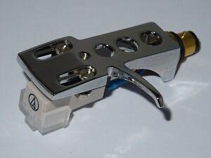 Chromium Plated Headshell +  Audio Technica AT3600L Cartridge + Diamond Stylus