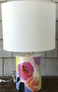 KATE SPADE Floral Vintage Accent CYLINDER TABLE LAMP NEW
