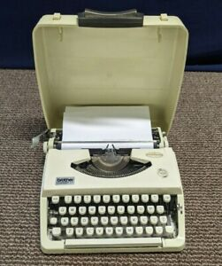Brother Charger 11 Typewriter Manual Vintage Portable Hard Cover Working Compact