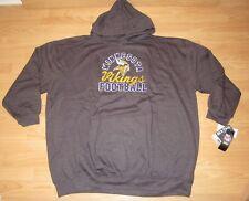 Minnesota Vikings Distressed Logo Hoodie Jacket Size Men's 3XL