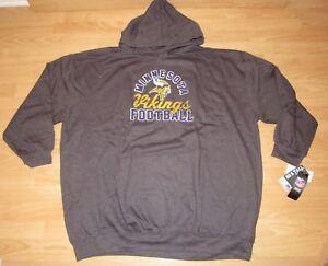Minnesota Vikings Distressed Logo Hoodie Jacket Size Men's 6XL