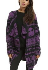 Disney The Nightmare Before Christmas Purple Fair Isle Cardigan Size Small NWT!