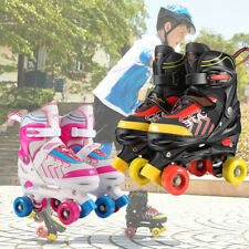 Rollschuhe für Kinder Anfänger Verstellbare Rollschuhe PU-Rädern Größe 31-38 Neu