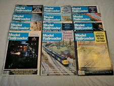 Vintage Model Railroader Magazine Full Year 1982