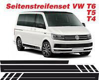 VW T4 T5 T6 BLANKO LINIE Seiten Streifen Aufkleber Set Dekor-Sticker Bus