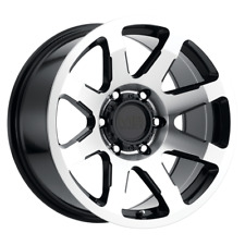 "SET (4) 17X8.5 +18 6X139.7 6X5.5 MB LEGACY BLACK WHEELS/RIMS 17"" INCH 60027"