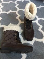 UGG Australia NEWBERRY Stout Brown Waterproof Event Boots Size US 7