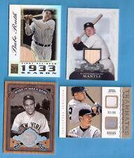 BABE RUTH MICKEY MANTLE GAME USED BAT DEREK JETER YOGI BERRA TANAKA JERSEY CARD