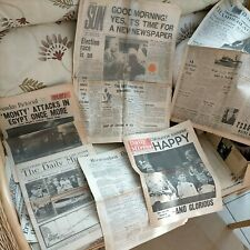 More details for various old reprinted newspapers