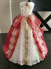 Barbie Princess Costume Ball Gown Doll Dress Red Gold Holiday Outfit