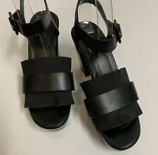 ROBERT CLERGERIE PARIS PLATFORM SANDALS BLACK SHOES HEELS SIZE US 6 EURO 36 1/2