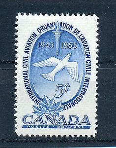 CANADA 1955 10th ANNIVERSARY INT'L CIVIL AVIATION ORGANISATION SG480  MNH