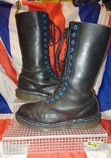 Angleterre Vintage * Mi-haute Bleu noir DR DOC MARTENS * Grunge SKINGIRL Punk Goth * 6