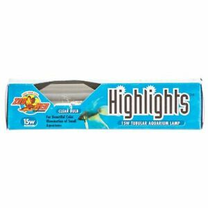Zoo Med HLC-15 Highlights Aquarium Lamp - Clear