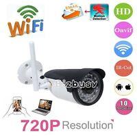 HD 720P Wireless WiFi IP Camera Onvif Home-Security CCTV Night Vision Waterproof