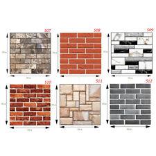 10 PCS 3D Tile Brick Wall Sticker PE Foam DIY Self-adhesive Waterproof Home