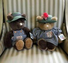 """Vintage GUND. """"Bear Tales"""" #2131 & 2132. Teddy Bear Farmer Gardner NWT"""