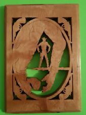 Vintage Scroll Saw Home Decor Art Handcrafted  Cowboy Gunslinger western