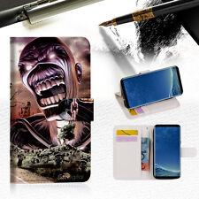 Iron Maiden Wallet Case Cover For Samsung Galaxy S8 - A014