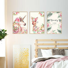 Beauty Deer Flowers Photo Frame Decorative Wall Stickers Room De_hg