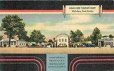WALTERBORO, SOUTH CAROLINA- SOUTH SIDE TOURIST COURT GAS CAFE 1939 POSTCARD VIEW