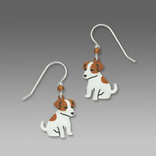 NEW Jack Russell Terrier Dog Dangle Earrings Sienna Sky Made in USA