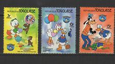 République Togolaise 3 timbres neufs Walt Disney Donald Pluto Daisy /T3049