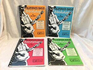 4 BLUEGRASS 5 STRING BANJO Music Instruction BOOK & CD Set Bill Knopf Beginner