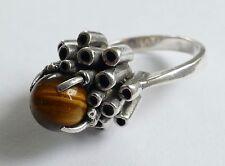 Balle Doré Designer Ring modernist vintage 70er argent 925