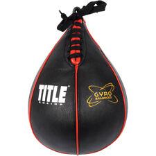 Title Boxing Gyro equilibrado de cuero bolso de velocidad de Entrenamiento Punch-Negro