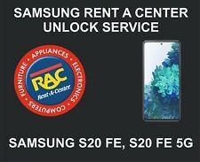Samsung Rent A Center Unlock Service, Samsung S20 FE, S20 FE 5G
