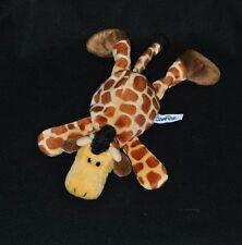 Peluche doudou girafe allongé NICI jaune brun crinière noire 26 cm couché NEUF