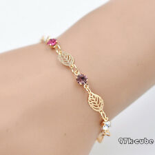 Brand New Simple Lady Jewelry Rhinestone Chain Bracelet Bangle Birthday Gift CUB