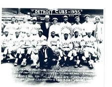 1935 DETROIT CUBS NEGRO LEAGUES TEAM 8X10  PHOTO  BASEBALL MICHIGAN USA